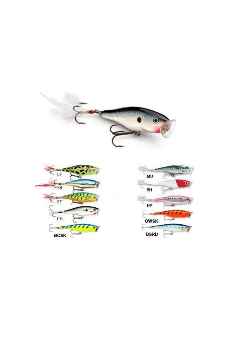 RAPALA SKITTER POP TOP WATER SP-05  SURFACE POPPER SPINNING