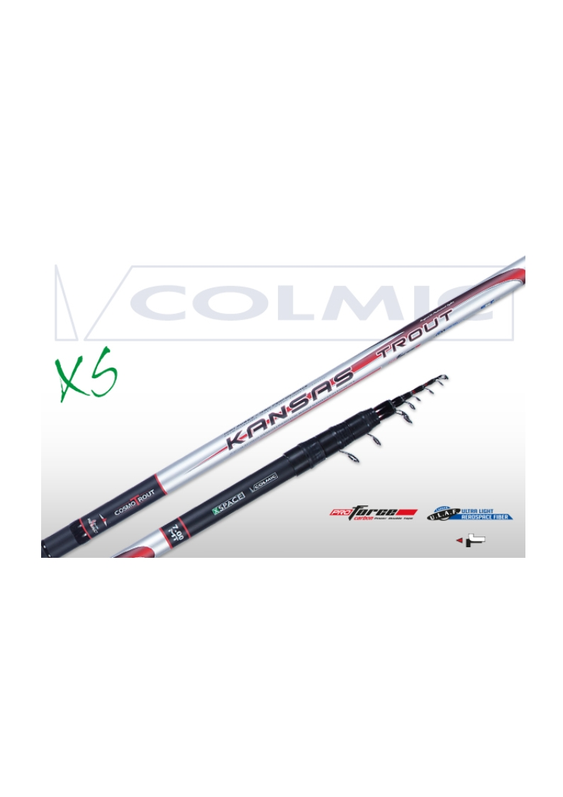 Canna Colmic Kansas Trout Trota Teleregolabile 8,00 mt NEW 2017