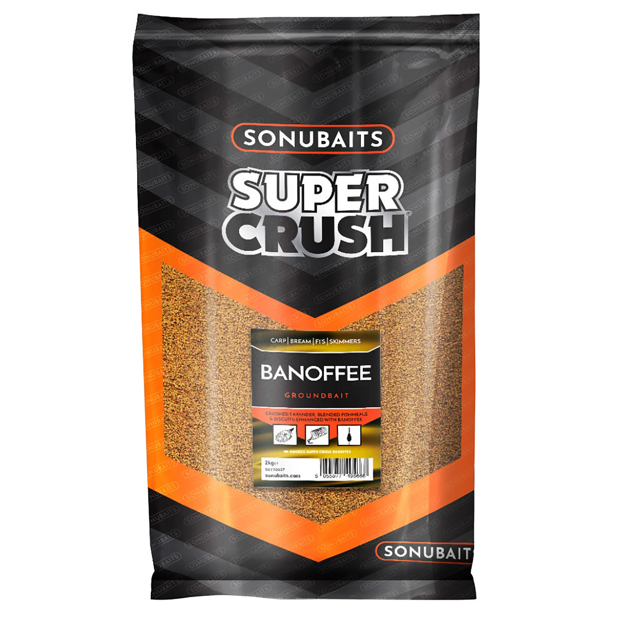 Sonubaits Groundbait BANOFFEE 2 Kg Pastura Pesca NEW 2020