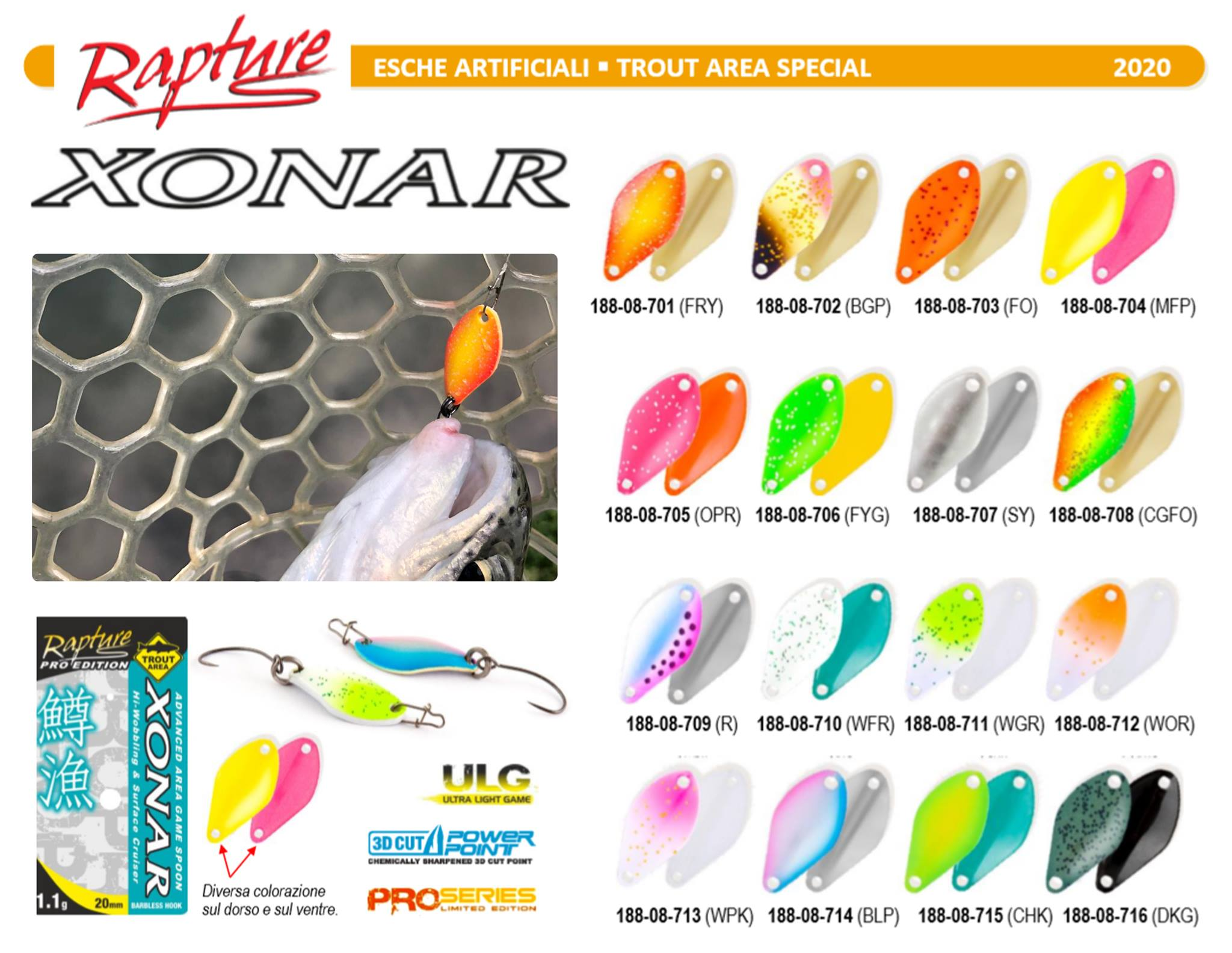 RAPTURE SPOON TROUT AREA XONAR 2.2gr 20mm
