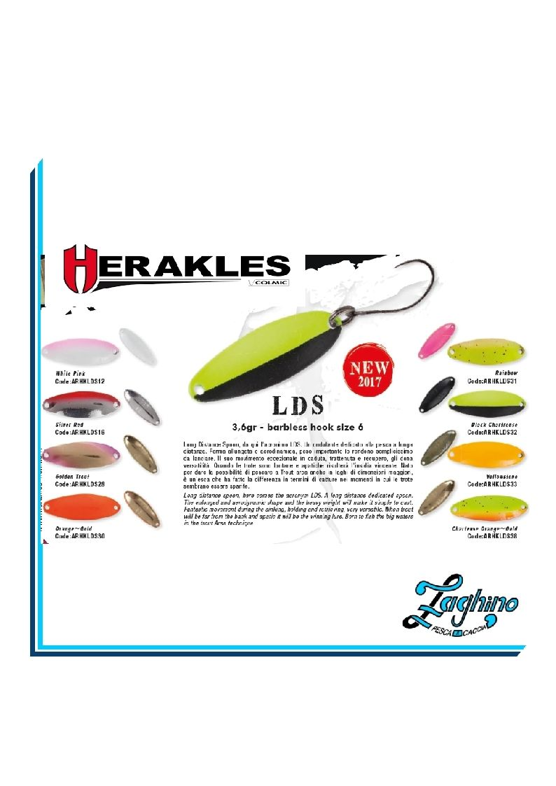 HERAKLES LDS SPOON COLMIC  3,6gr. ARTIFICIALE TROTA NEW 2017
