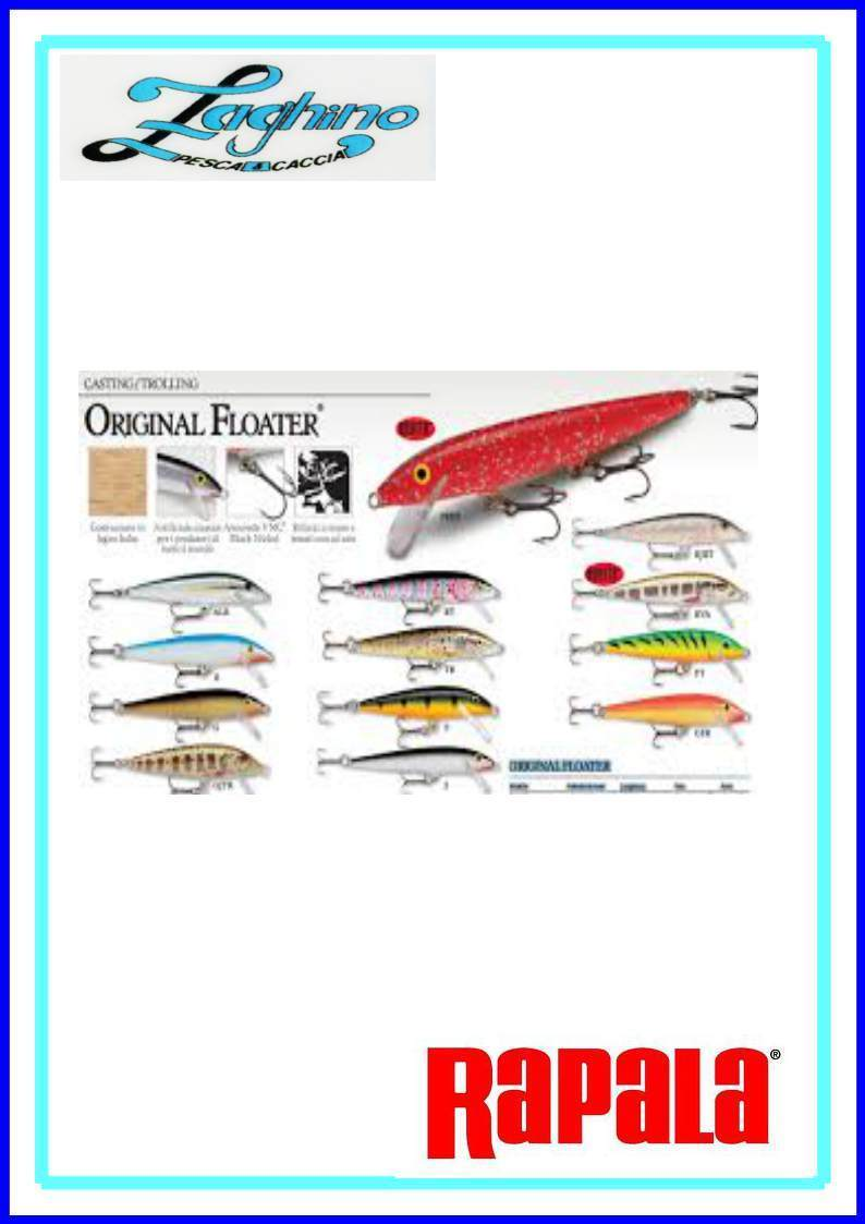 RAPALA ORIGINAL FLOATER  F-3 / F-5 / F-9 / F-11 / F-13 ARTIFICIALI