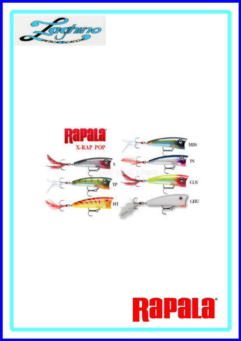 RAPALA X-RAP POP 7cm ARTIFICIALI SPINNING