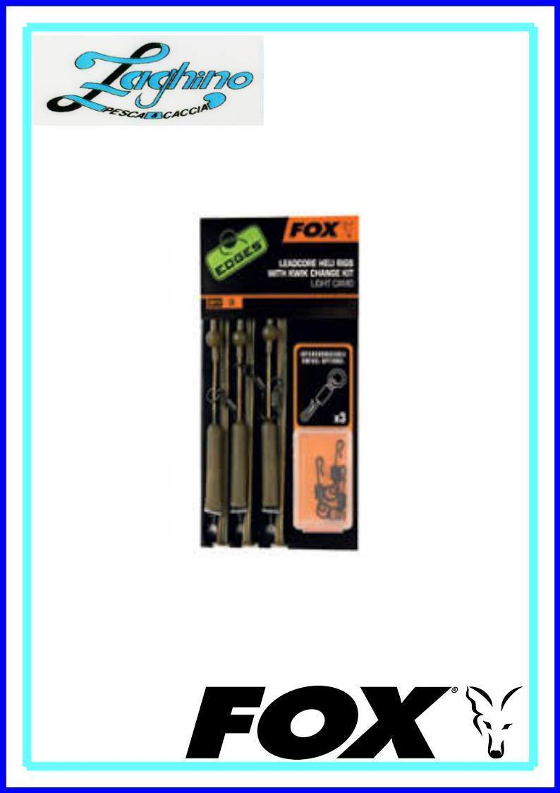 Fox CAC574 Edges Leadcore Heli Rigs Inc Kwik Change Kit Dark Camo