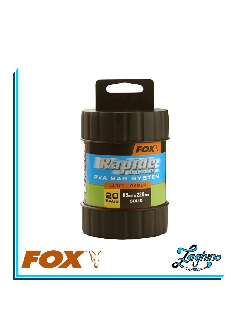 FOX  CPV033 RAPIDE LOAD KIT PVA BAG SYSTEM 85mm X 220mm SOLID