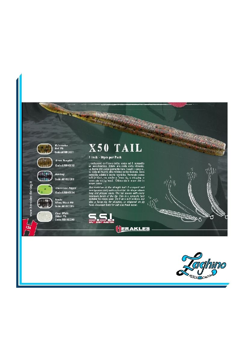 HERAKLES X50 TAIL Artific. Spinning SOFT BAITS