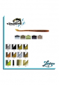 "Gary Yamamoto Cut Tail Worm 5"" Special Color Black Bass Spinning"