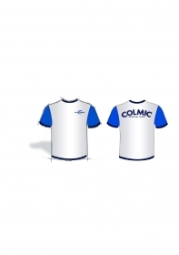 Colmic T-shirt cotone White Official Team pesca New Collection