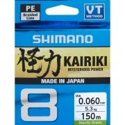Shimano Kairiki 8 braided line 150m colore Mantis Green NEW