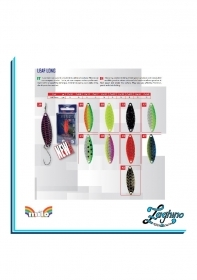 Milo Lure Kamagotchi Leaf Long Spoon TROUT AREA ARTIFICIALE TROTA ONDULANTE NEW