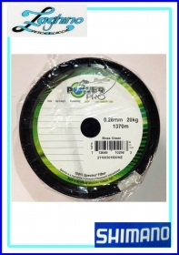 Shimano power pro verde Moss Green 0,28/0,32mm 1370mt  Multifibre Spectra